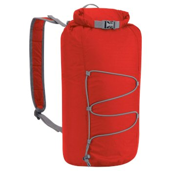 Craghoppers 15L Pack-Away Rucksack - Dynamite Red / Quarry Grey