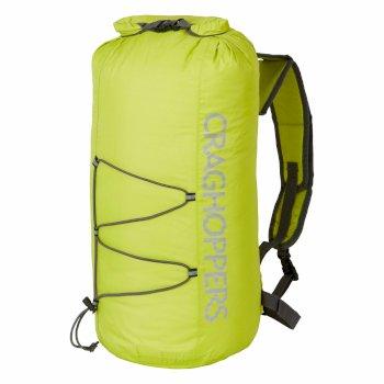 Craghoppers 15L Packaway Waterproof Rucksack - Spring Yellow / Quarry Grey