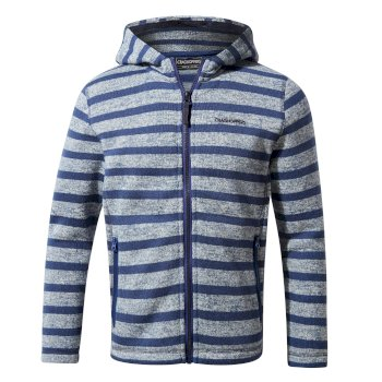 Craghoppers Salvador Fleece Jacket - Lapis Blue Stripe