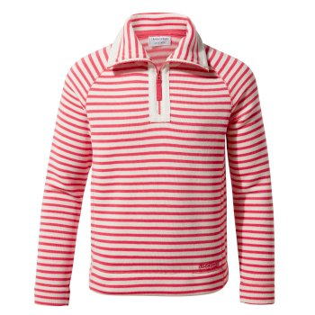 Craghoppers Manuela Half-Zip - Rio Red Stripe