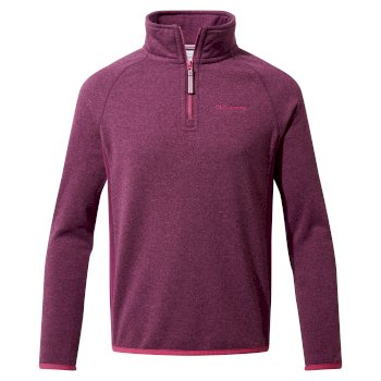 Craghoppers Gibb Half Zip - Blackcurrant Marl