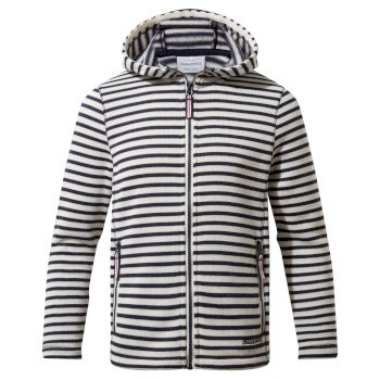Craghoppers Collier Hooded Jacket - Blue Navy Stripe