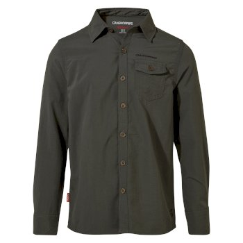 Craghoppers Nosilife Emerson Long Sleeved Shirt - Dark Khaki