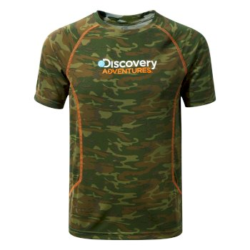 Craghoppers Discovery Adventures Short-Sleeved T-Shirt Dark Moss Combo