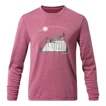 Craghoppers First Layer Long Sleeved T-Shirt Azalia Pink Marl