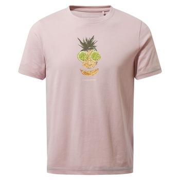 Craghoppers Gibbon Short Sleeved T-Shirt - Brushed Lilac Fruit Face