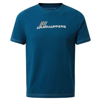 Craghoppers Gibbon Short Sleeved T-Shirt - Poseidon Blue Brand Carrier