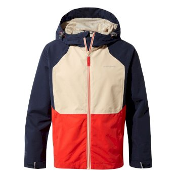 Craghoppers Amadore Jacket - Blue Navy / Aster Red / Desert Sand