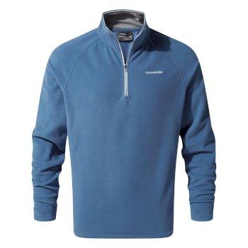 Corey V Half-Zip Fleece - Delft Blue