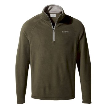 Craghoppers Corey V Half Zip - Woodland Green
