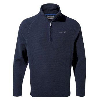 Craghoppers Leto Half-Zip - Blue Navy Stripe