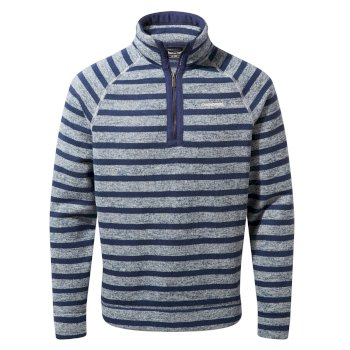 Craghoppers Fernando Half-Zip Fleece - Lapis Blue Stripe