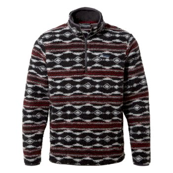 Craghoppers Sawrey Half Zip - Black Pepper Print