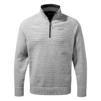 Craghoppers Turo Half Zip - Cloud Grey Stripe