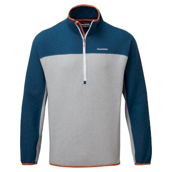 Craghoppers Galway Half Zip - Poseidon Blue / Cloud Grey