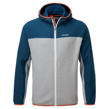 Craghoppers Galway Hooded Jacket - Poseidon Blue / Cloud Grey