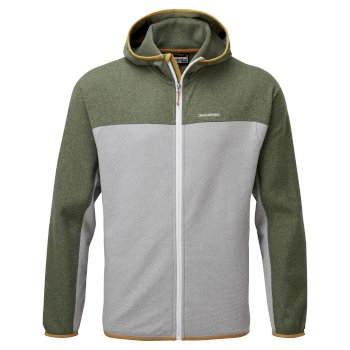 Craghoppers Galway Hooded Jacket - Parka Green Marl / Cloud Grey