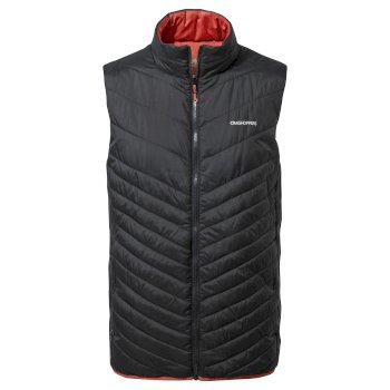 Craghoppers Compress Lite V Vest - Black / Pompeian Red