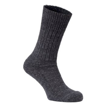 Craghoppers Mens Wool Hiker Sock - Black Pepper Marl