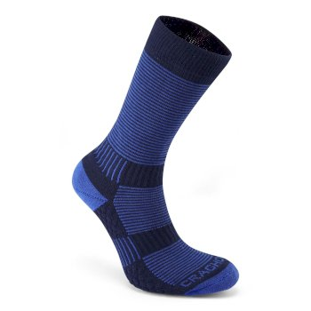 Craghoppers Heat Regulating Travel Sock - Bright Blue / Dark Navy