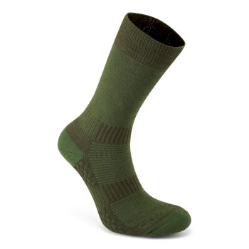 Craghoppers Heat Regulating Travel Sock - Spiced Lime / Dark Khaki