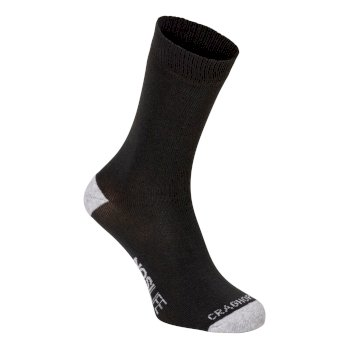Craghoppers Single NosiLife Travel Sock - Charcoal / Soft Grey Marl