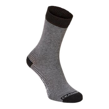Craghoppers Mens NosiLife Twin Pack Socks - Charcoal / Soft Grey Marl