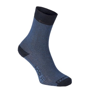 Craghoppers Mens NosiLife Twin Sock Pack - Dark Navy / Soft Denim Stripe