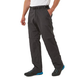 Craghoppers Kiwi Convertible Trousers - Black Pepper