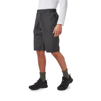 Craghoppers Kiwi Long Shorts - Black Pepper
