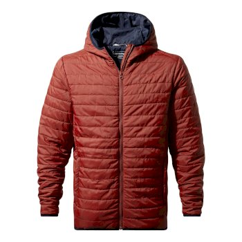 Craghoppers Compresslite III Hooded Jacket Firth Red / Platinum / Black