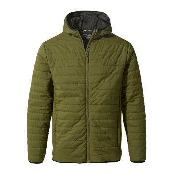 Craghoppers Compresslite III Hooded Jacket Dark Moss / Black Pepper