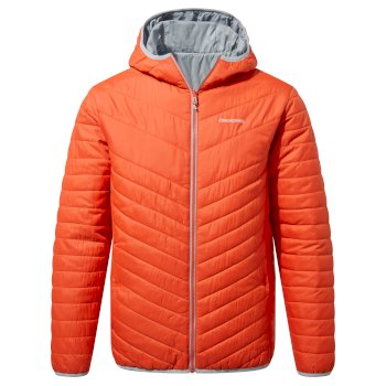 Craghoppers Compresslite V Hooded Jacket - Marmalade / Cloud Grey