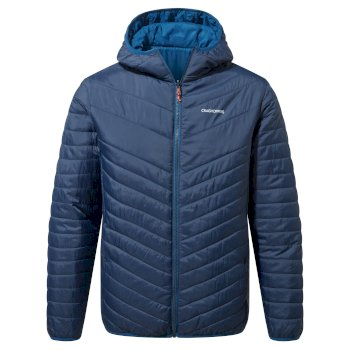 Craghoppers Compresslite V Hooded Jacket - Blue Navy / Poseidon Blue