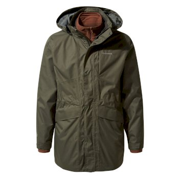 Craghoppers Herston 3 in 1 Jacket - Dark Khaki / Burnt Umber