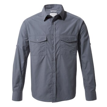 Craghoppers Kiwi Long Sleeved Shirt - Ombre Blue