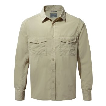 Craghoppers Kiwi Long Sleeved Shirt - Oatmeal
