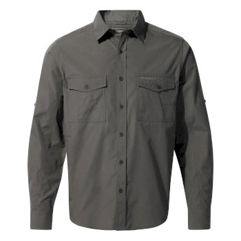 Craghoppers Kiwi Long Sleeved Shirt - Dark Grey