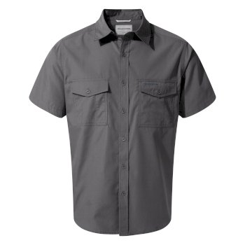 Craghoppers Kiwi Short Sleeved Shirt - Ombre Blue