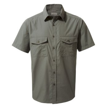 Craghoppers Kiwi Short-Sleeved Shirt - Dark Grey