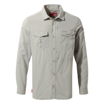 Craghoppers NosiLife Adventure Long Sleeved Shirt Parchment