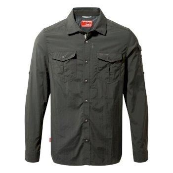 Craghoppers NosiLife Adventure Long Sleeved Shirt Black Pepper