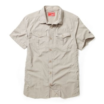 Craghoppers NosiLife Adventure Short-Sleeved Shirt Parchment