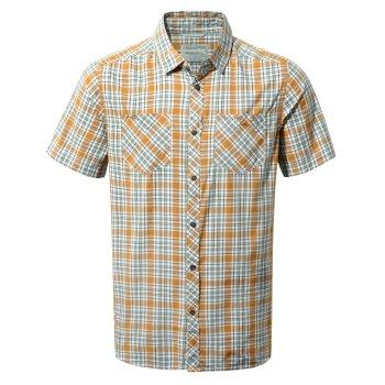 Craghoppers Northbrook Short-Sleeved Shirt Turmeric Combo