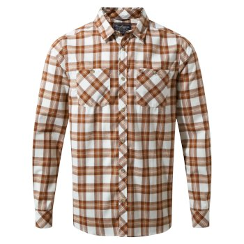 Craghoppers Andreas Long-Sleeved Check Shirt Burnt Umber Combo