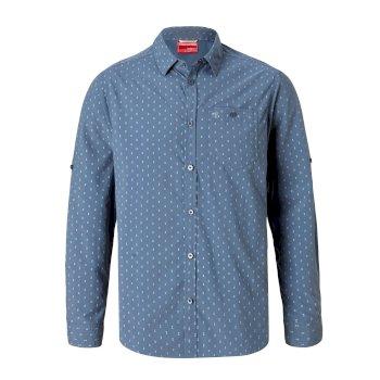 Craghoppers NosiLife Barmera Long-Sleeved Shirt - Ocean Blue Print