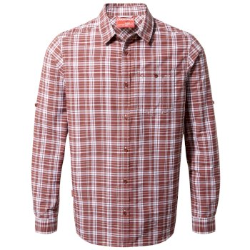 Craghoppers NosiLife Barmera Long-Sleeved Shirt - Red Earth Check
