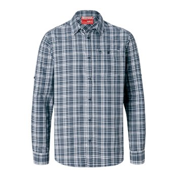 Craghoppers NosiLife Barmera Long-Sleeved Shirt - Ombre Blue Check