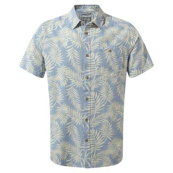 Craghoppers Palmer Short Sleeved Shirt Fogle Blue