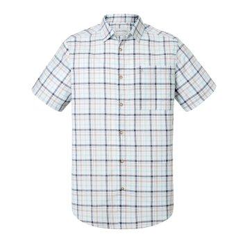 Craghoppers Holbrook Short Sleeved Check Shirt Dark Grey
